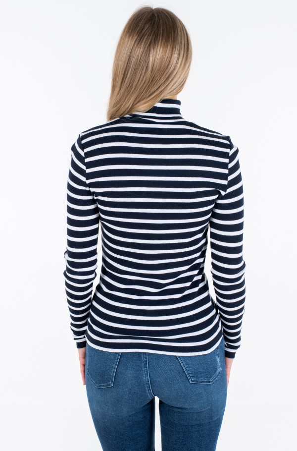 TH ESS SKINNY ROLL-NK RIB TOP LS-hover