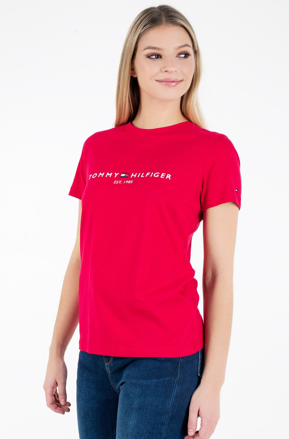 Marškinėliai TH ESS HILFIGER C-NK REG TEE SS-full-1