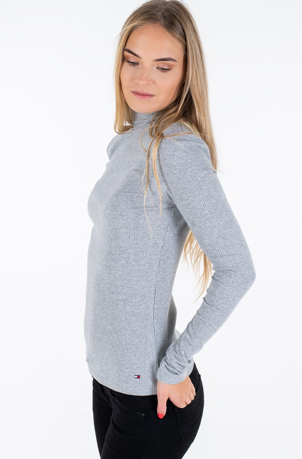 SKINNY HIGH-NK WIDE RIB TOP LS-hover