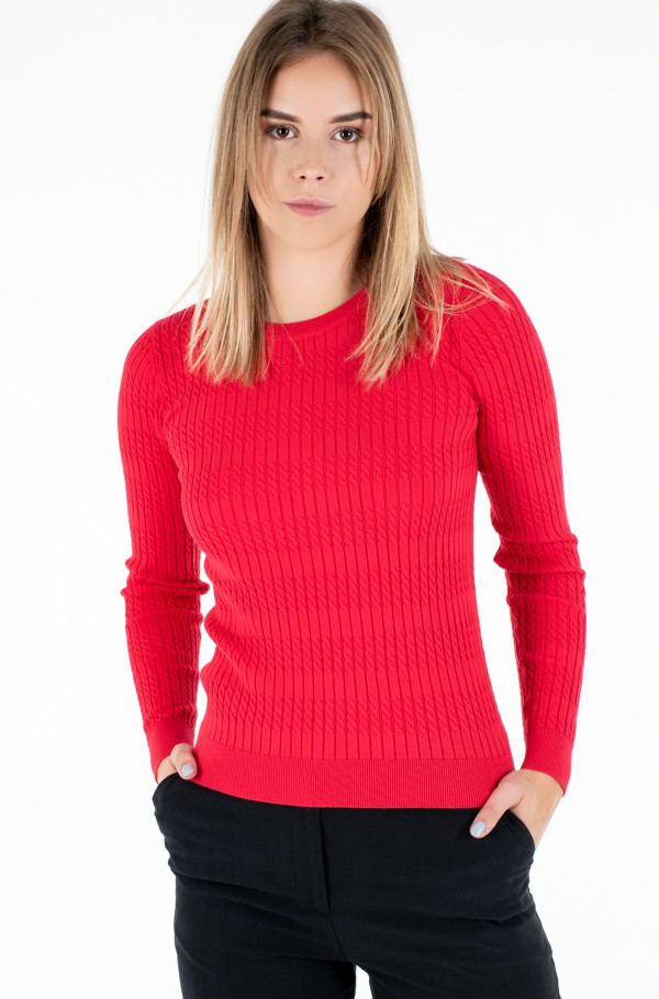 TH ESS CABLE C-NK SWEATER LS