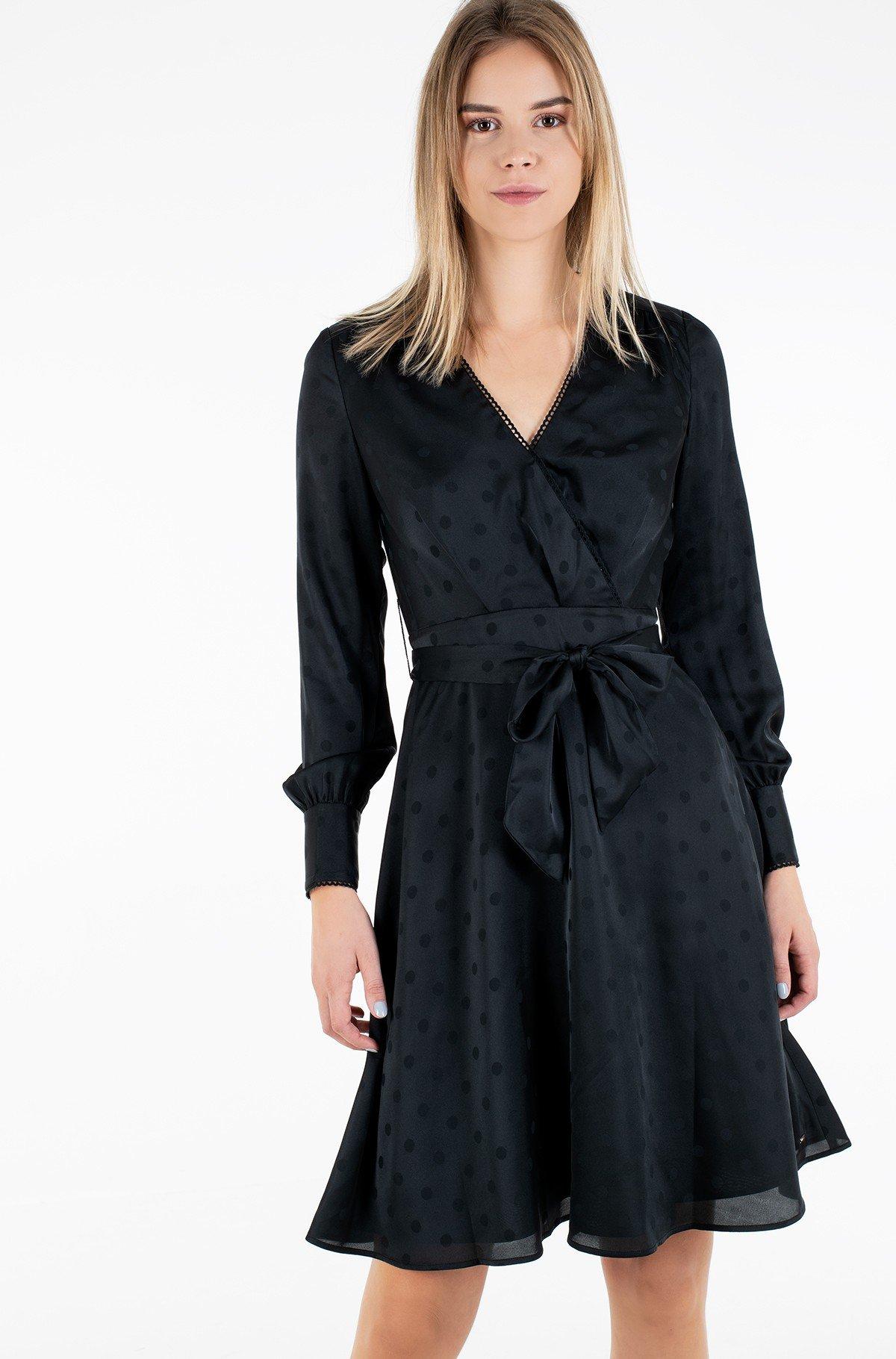 Suknelė POLKA DOT FIT&FLARE WRAP DRESS-full-1