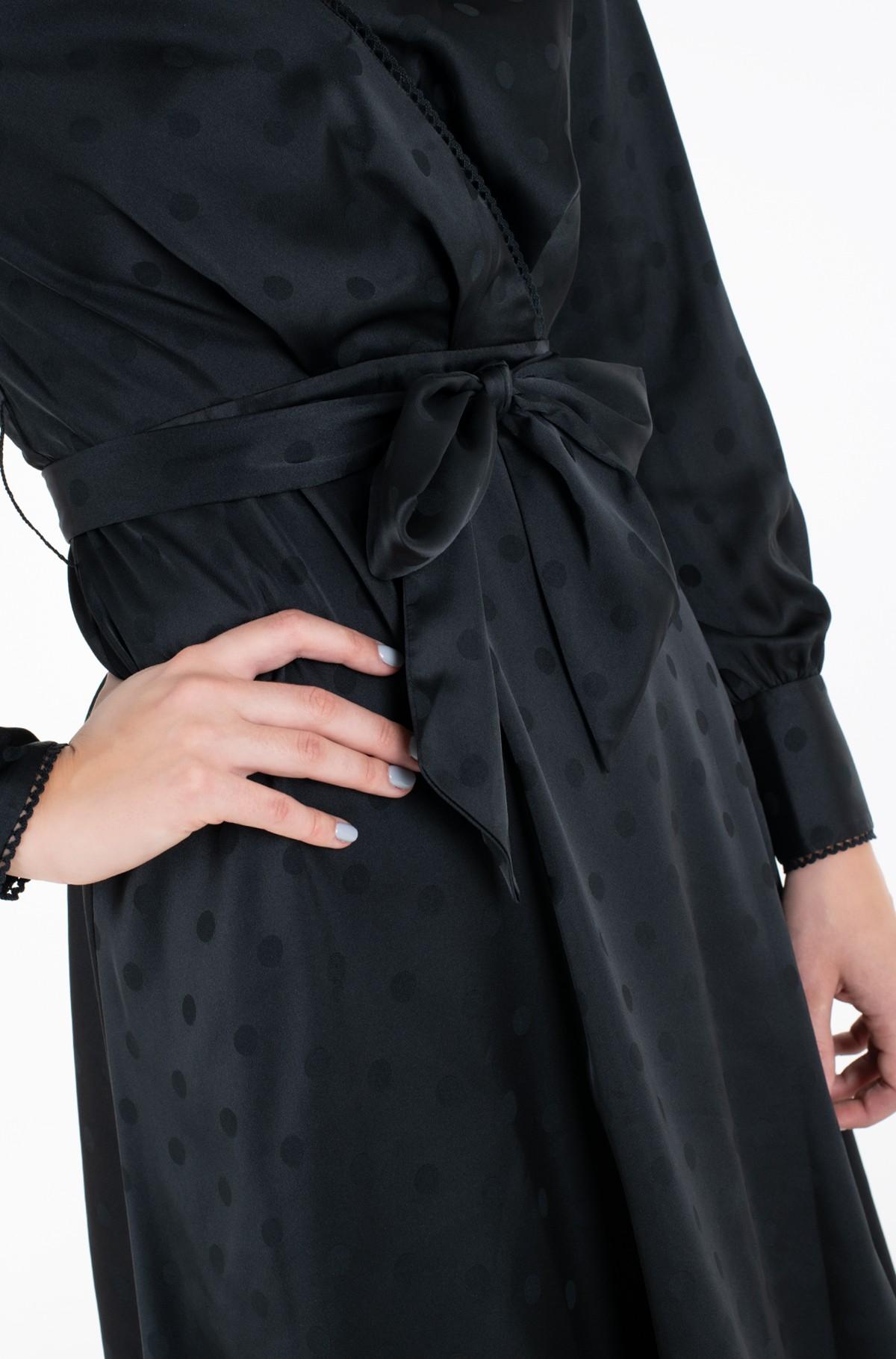 Suknelė POLKA DOT FIT&FLARE WRAP DRESS-full-2
