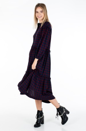 Suknelė BEA TARTAN SHIRT DRESS 3/4 SLV-1