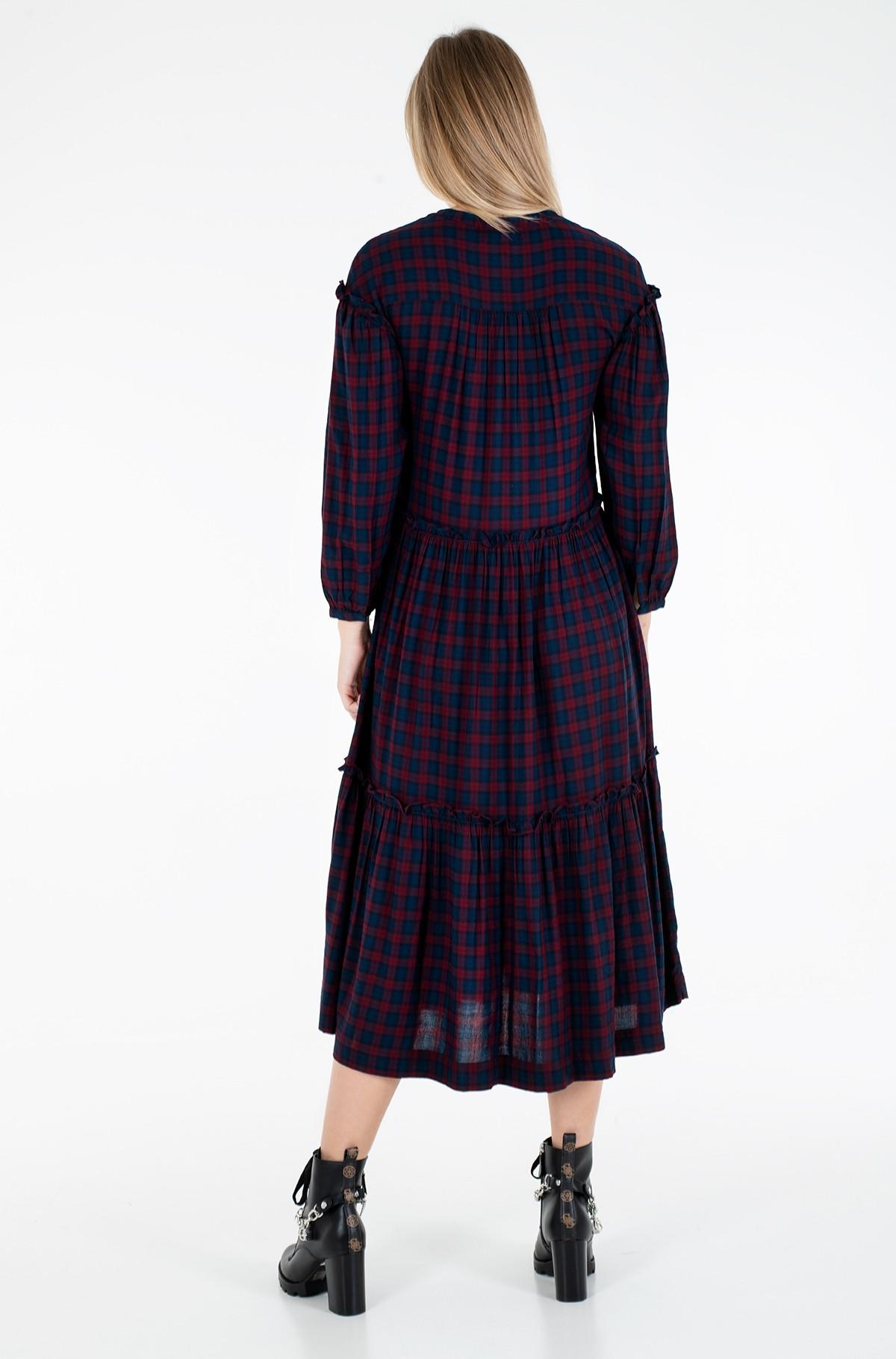 Suknelė BEA TARTAN SHIRT DRESS 3/4 SLV-full-3
