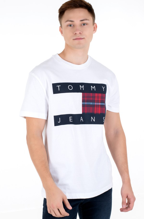 TJM PLAID CENTRE FLAG TEE