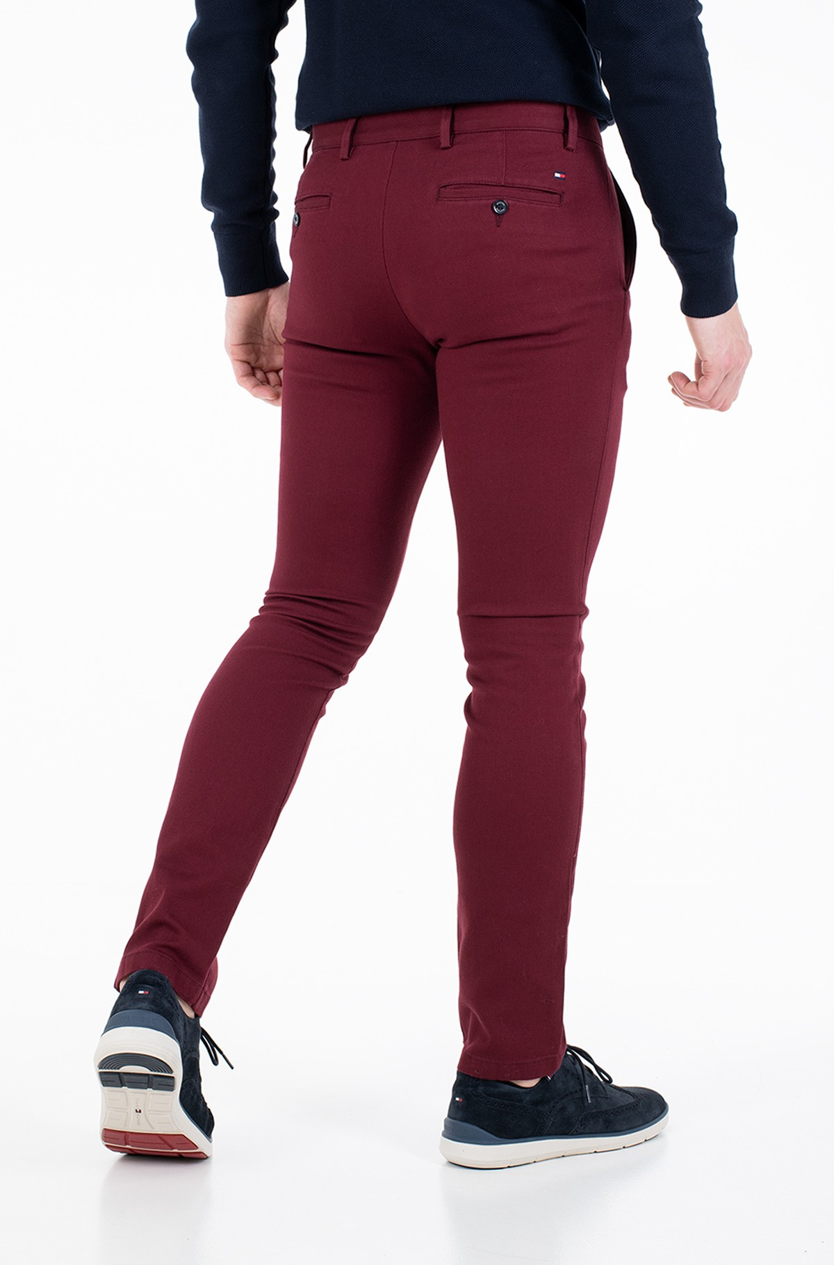 Kelnės su kantu BLEECKER FINE PD STRUCTURE-full-2
