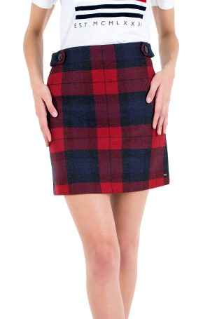 Skirt WOOL RED CHECK MINI SKIRT-2