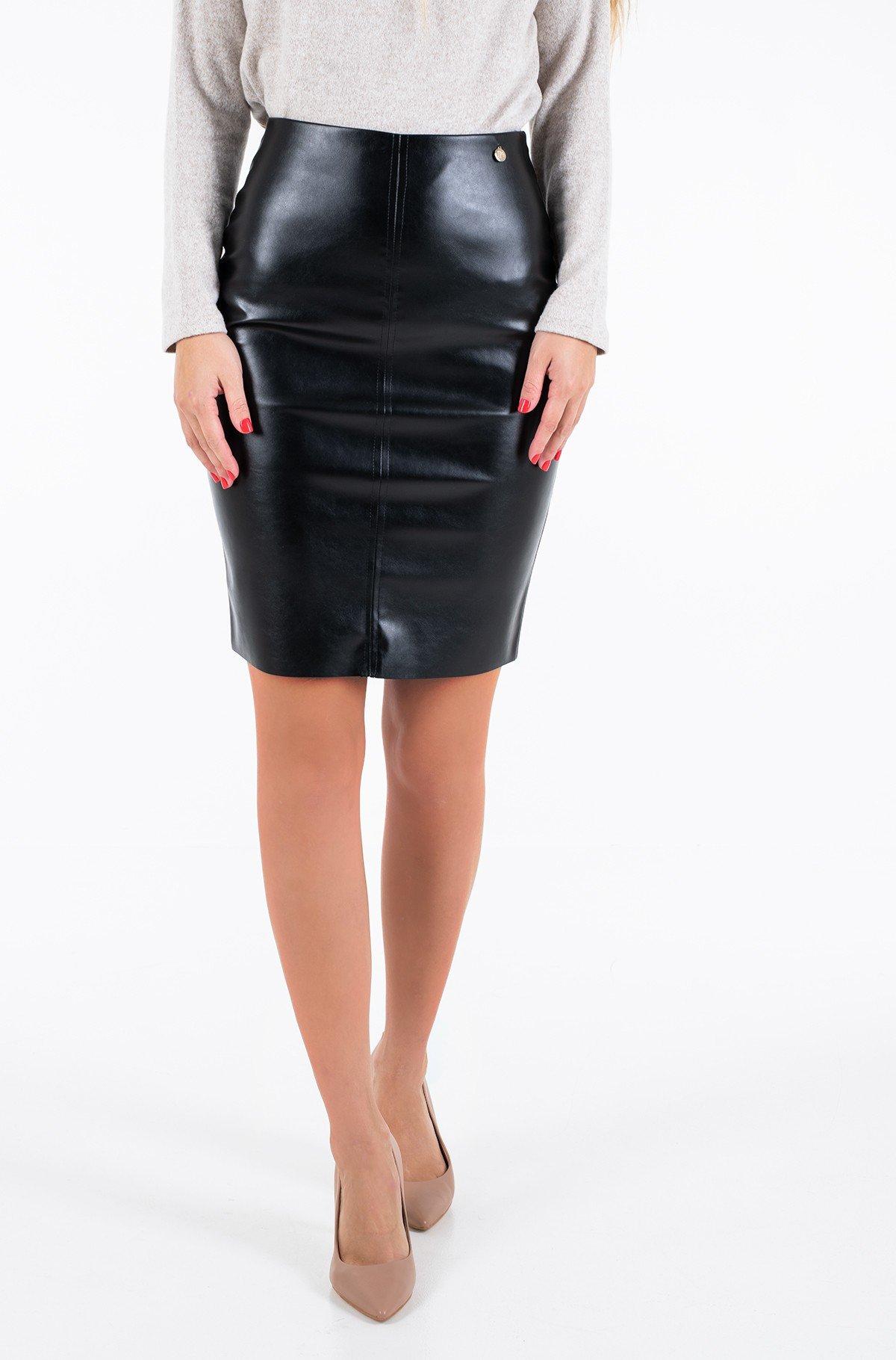 Leather skirt Agve02-full-1