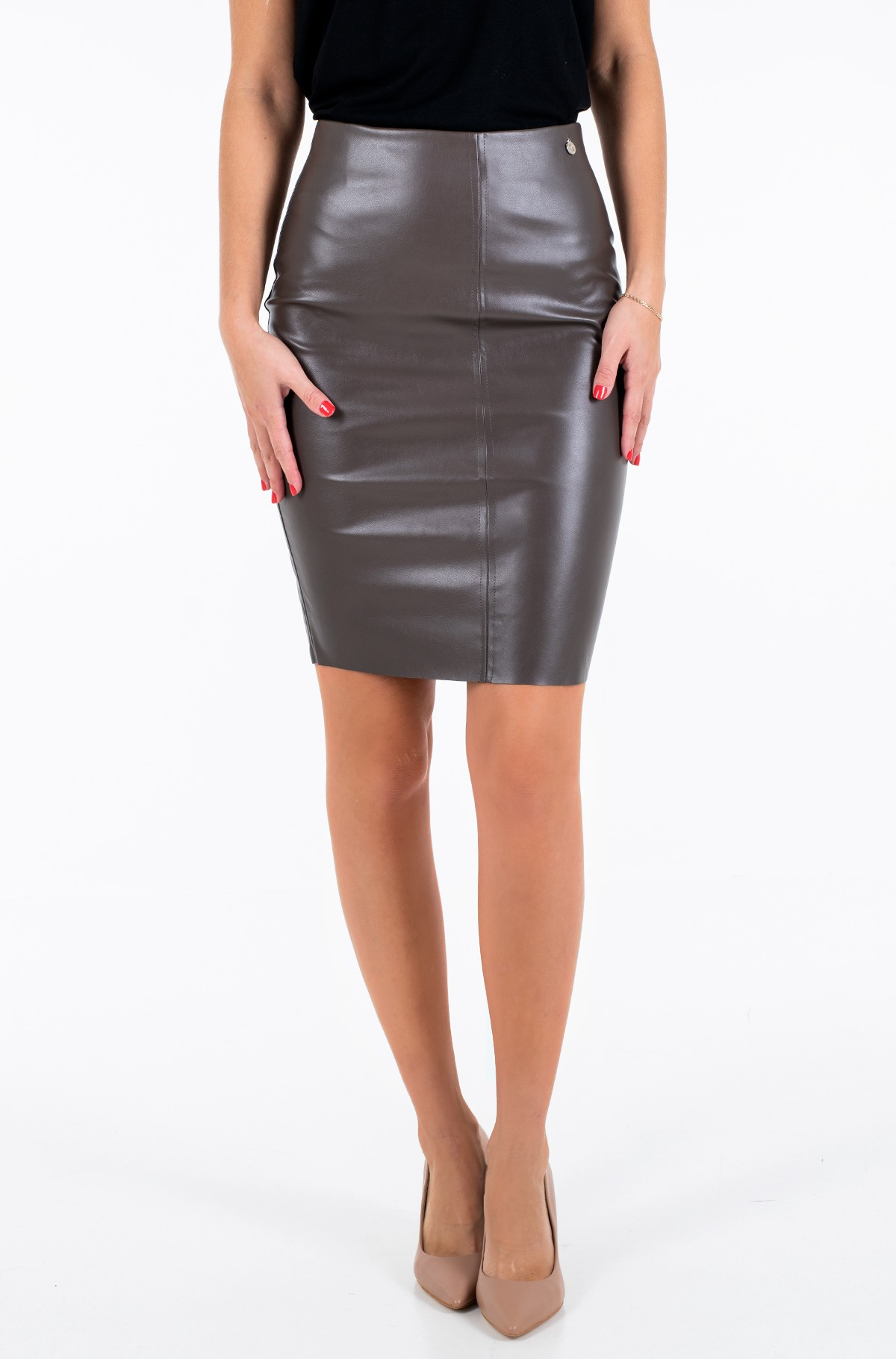 Leather skirt Agve02-full-1