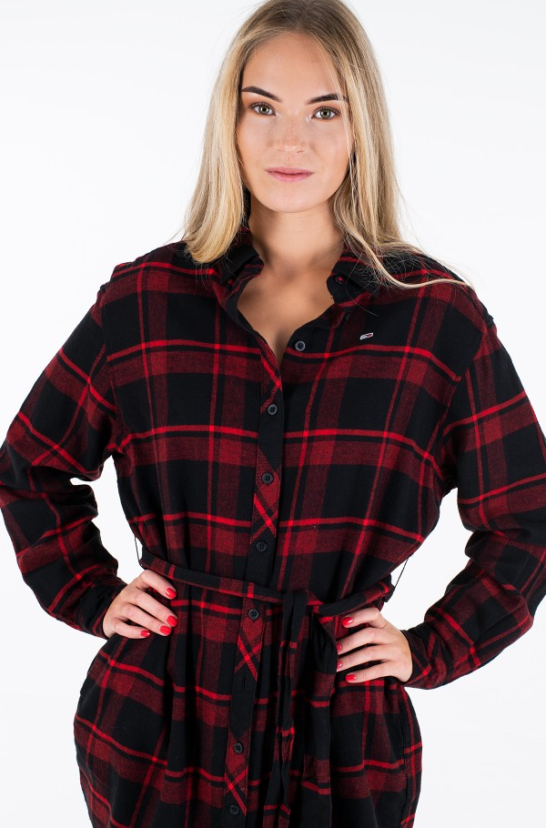 TJW FLANNEL SHIRT DRESS-hover
