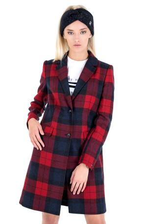 Mantel WOOL BLEND CHECK CLASSIC COAT-2