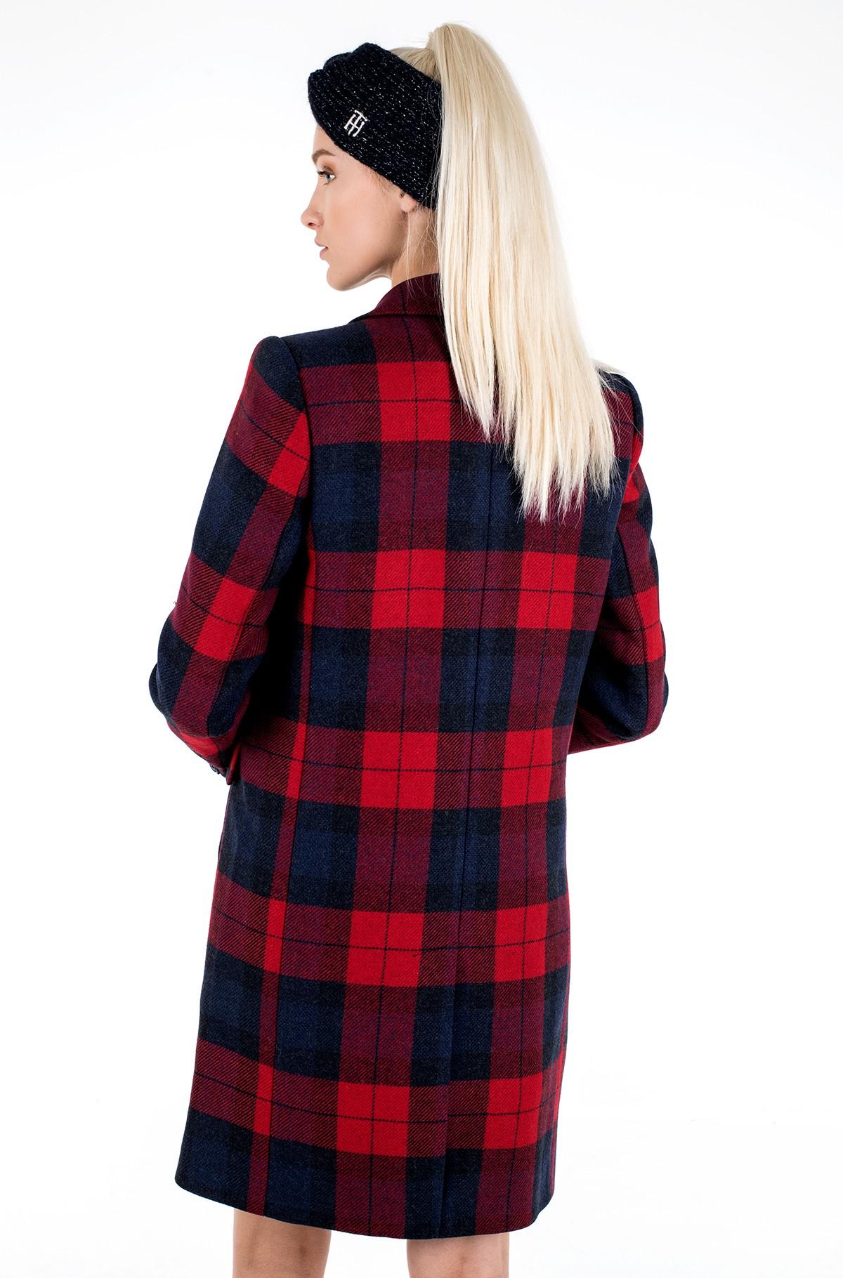 Mantel WOOL BLEND CHECK CLASSIC COAT-full-4