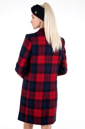 Mantel WOOL BLEND CHECK CLASSIC COAT-4