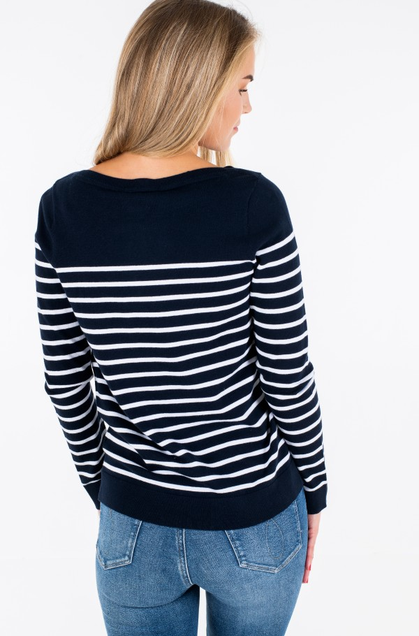 HERITAGE BOAT NECK SWEATER-hover