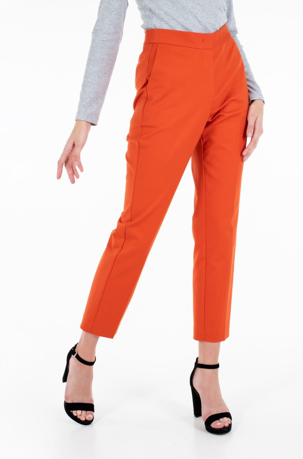 SLIM SLUB COTTON ANKLE PANT