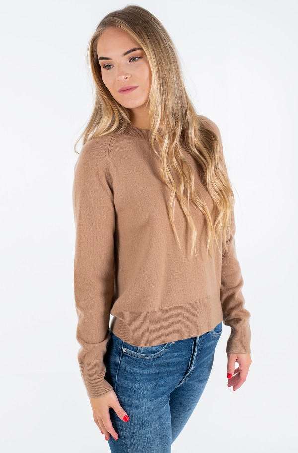 RECYCLED CASHMERE C-NK SWEATER
