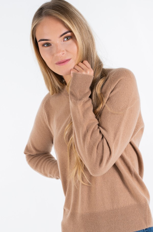 RECYCLED CASHMERE C-NK SWEATER-hover