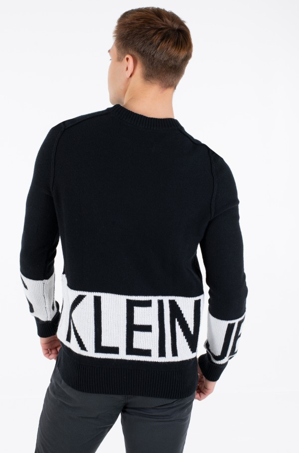 BLOCKING LOGO CKJ SWEATER-hover