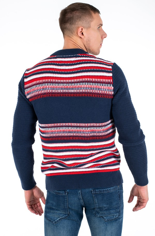TJM STRUCTURE MIX SWEATER-hover