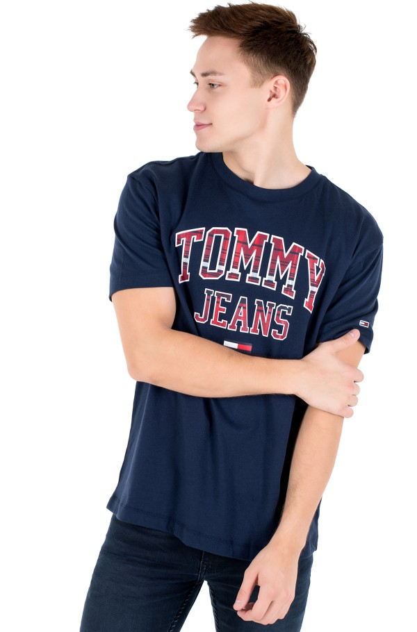 TJM PLAID COLLEGIATE TEE