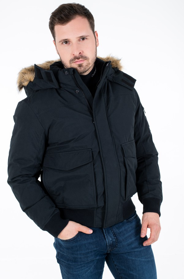 FUR TRIMMED DOWN JACKET