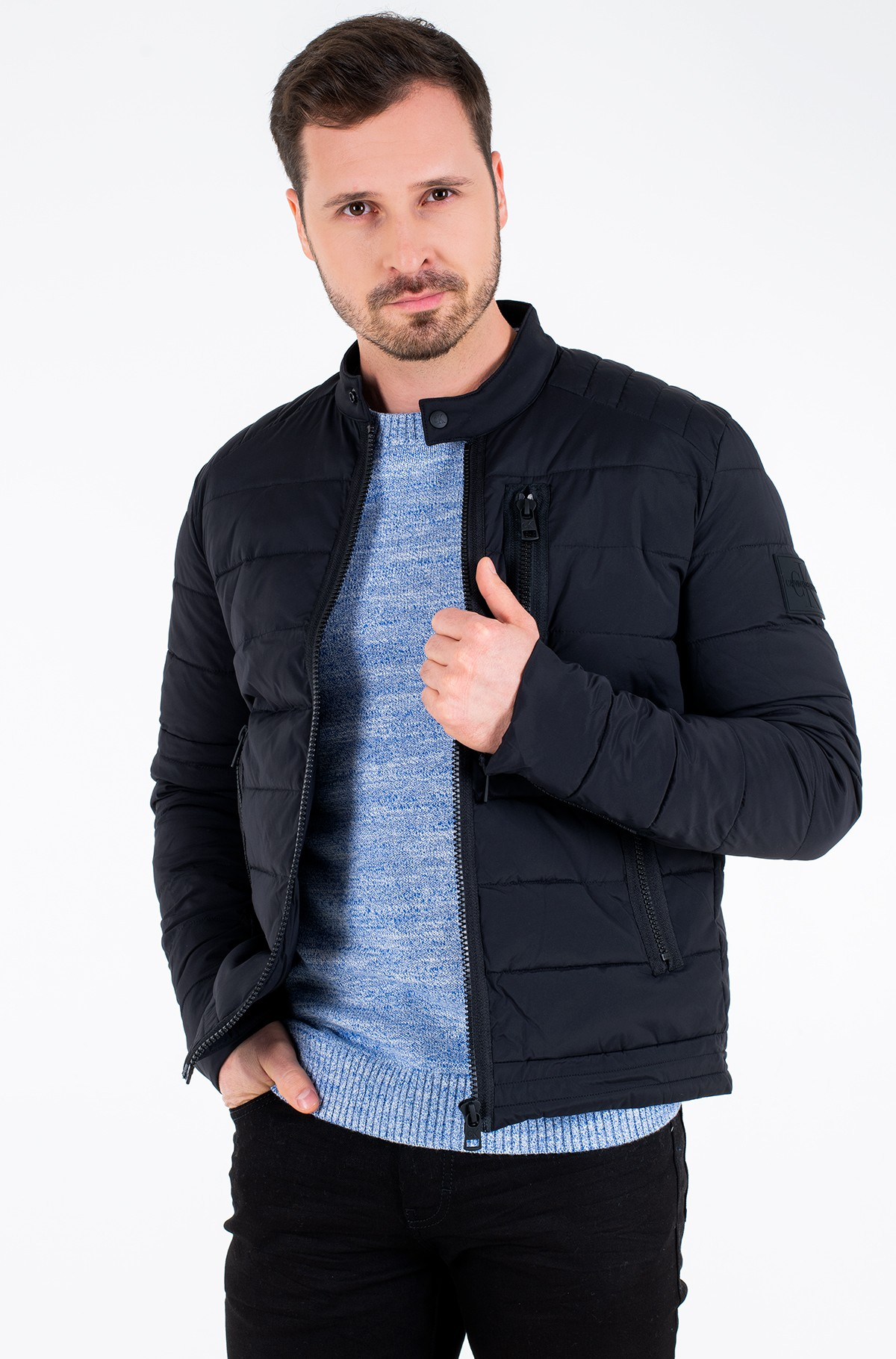Jope QUILTED PADDED MOTO JACKET-full-2