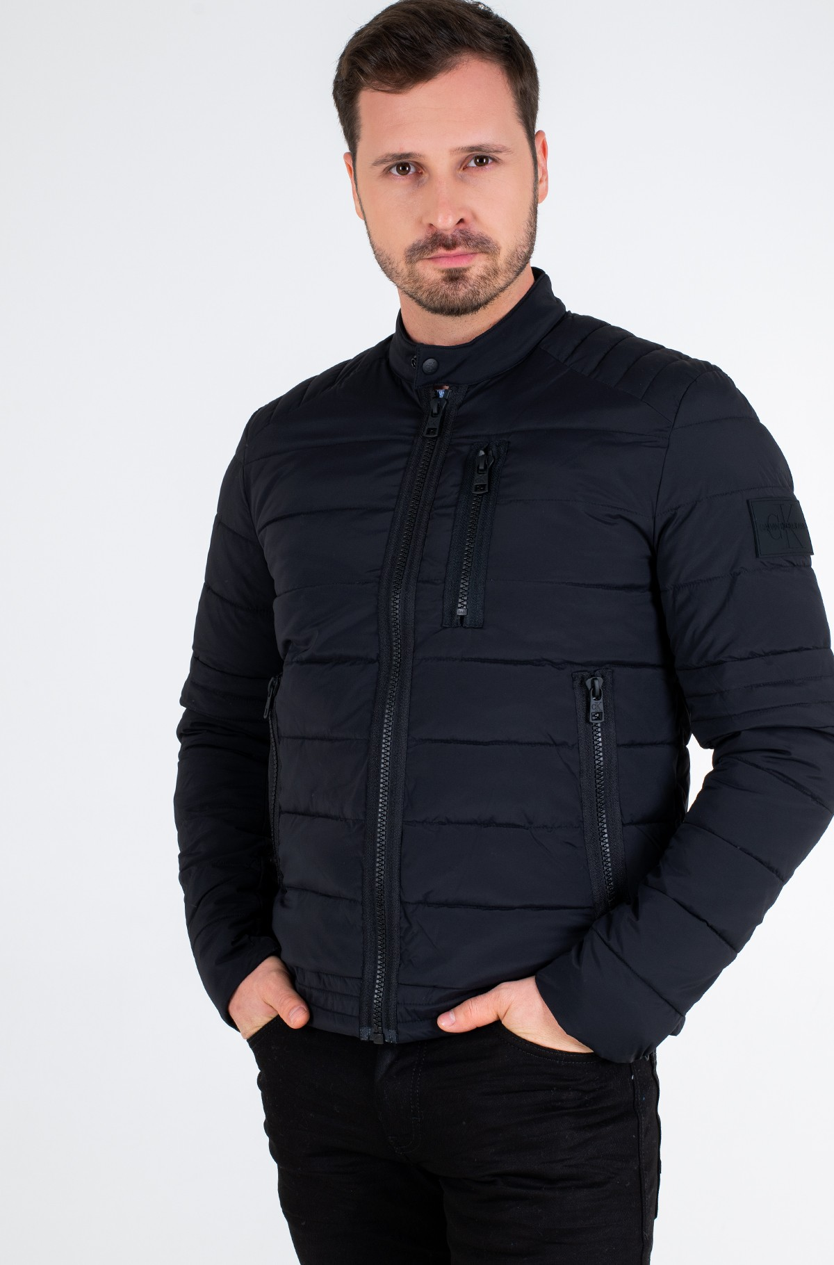 Jope QUILTED PADDED MOTO JACKET-full-3