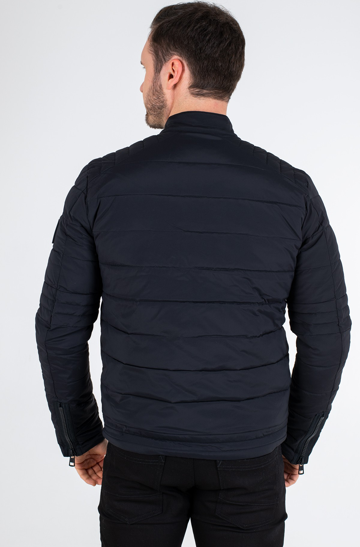 Jope QUILTED PADDED MOTO JACKET-full-4