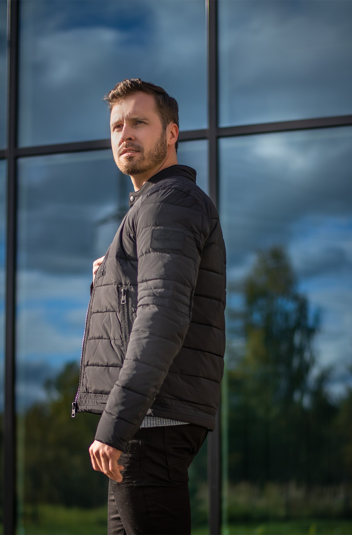 Jope QUILTED PADDED MOTO JACKET-full-1