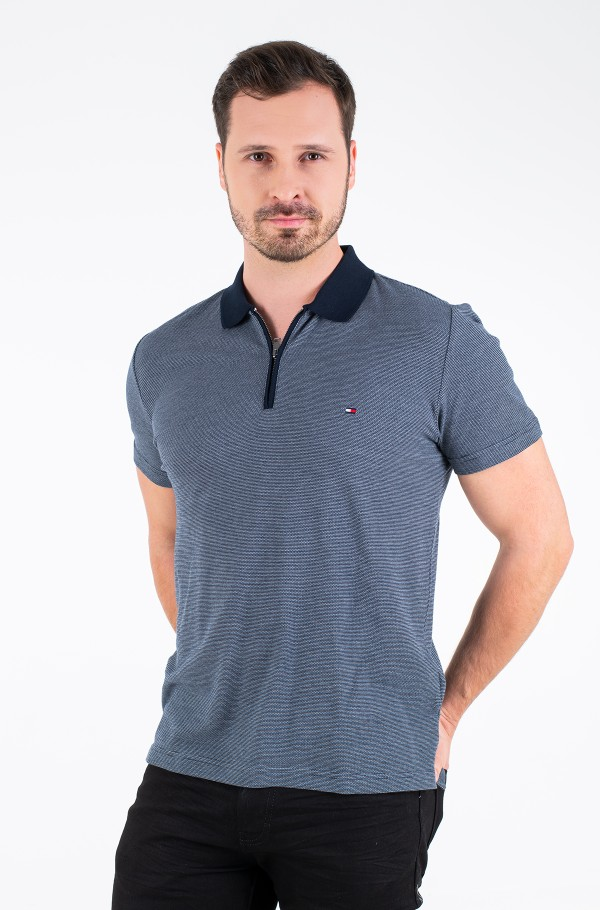 MICRO JACQUARD ZIP REGULAR POLO