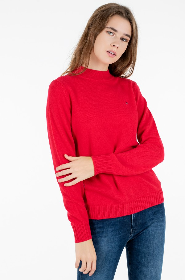 SP WOOL CASHMERE MOCK-NK SWEATER