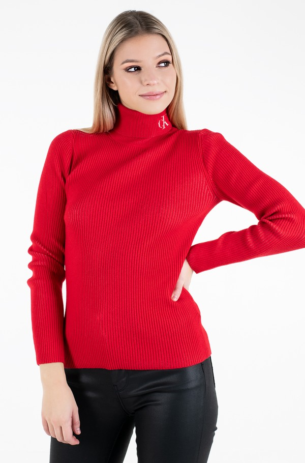 RIB ROLL NECK WITH CK-hover