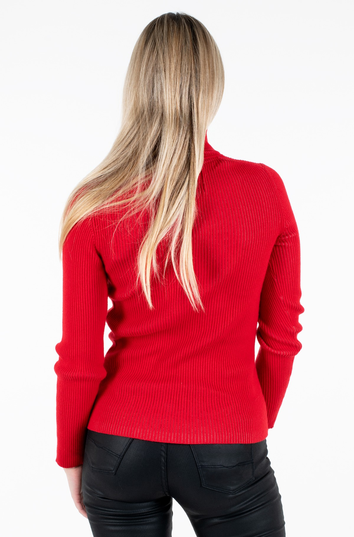 Sweater RIB ROLL NECK WITH CK-full-3