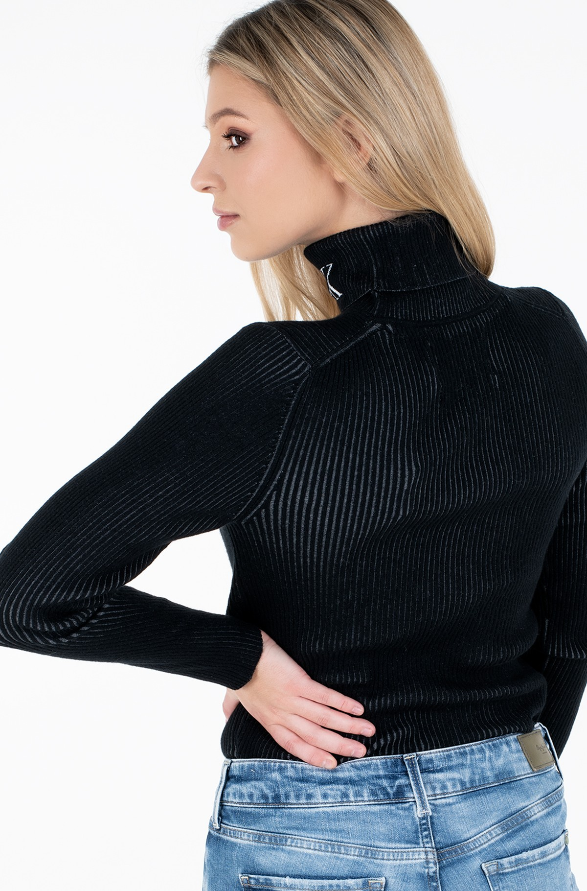 Sweater RIB ROLL NECK WITH CK-full-2