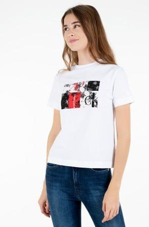 T-shirt PRINT MIXED TEE-1