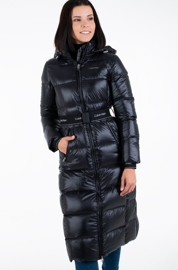 LOFTY DOWN BELTED MAXI COAT-hover