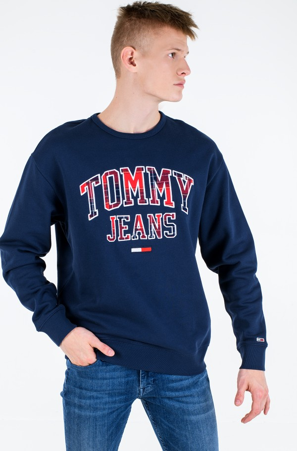 TJM PLAID TOMMY GRAPHIC CREW
