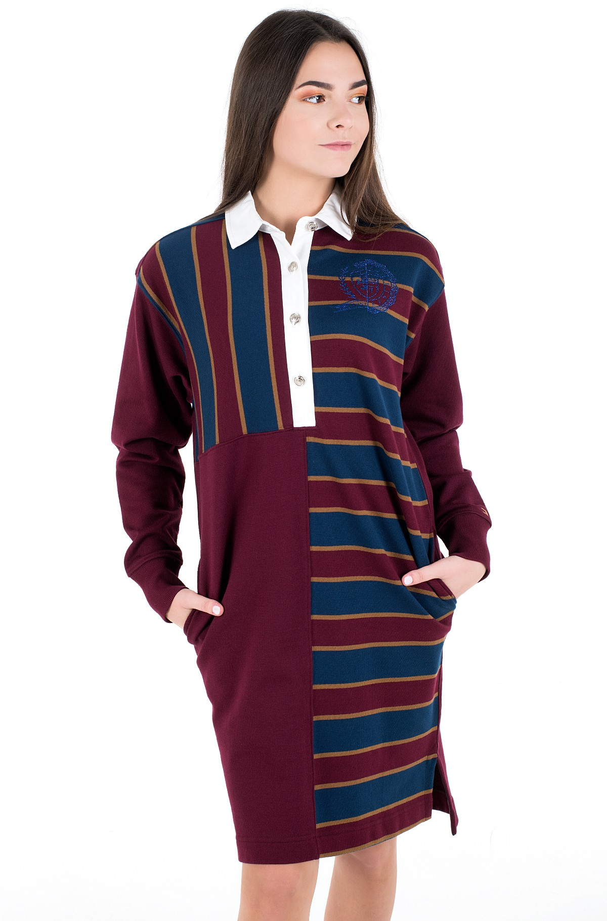 Kleit ICON OVERSIZED RUGBY DRESS LS-full-2