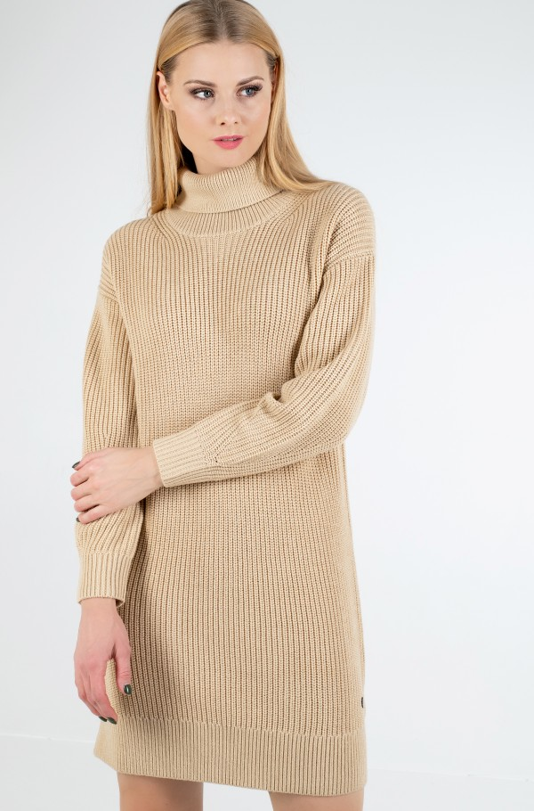 ROLL NECK SWEATER DRESS