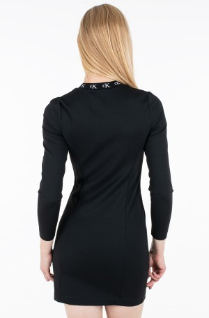 Kleit CK LOGO TRIM LS MILANO DRESS-3