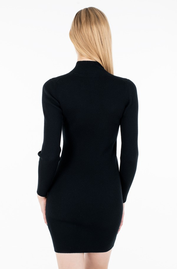 ROLL NECK SWEATER DRESS-hover