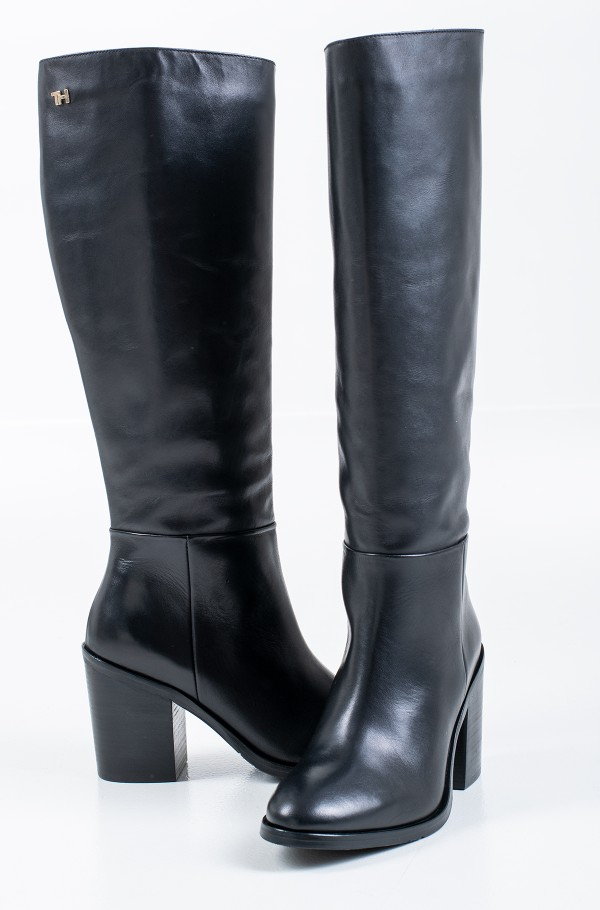 SHADED LEATHER LONG BOOT