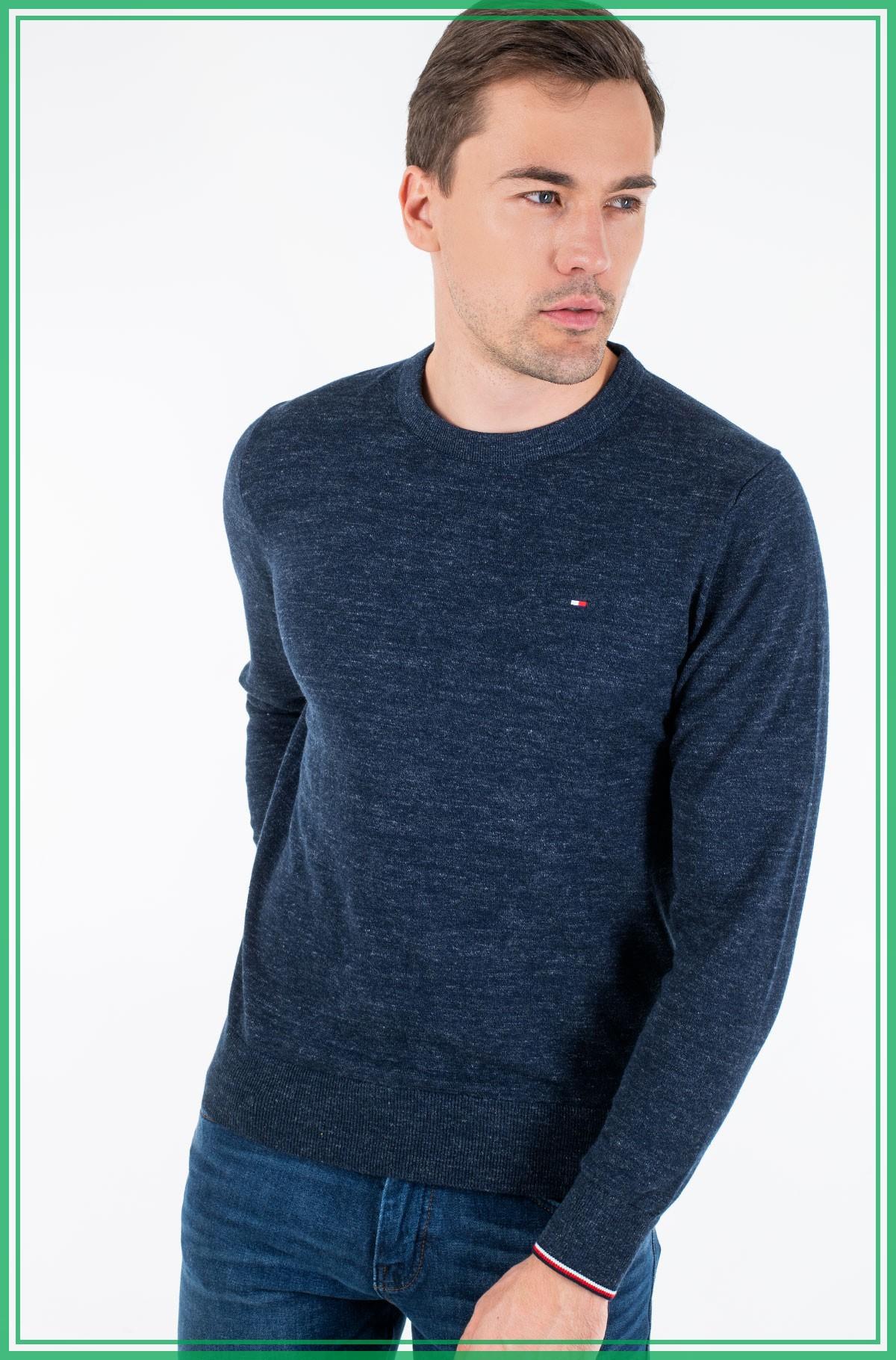 Sweater EXAGGERATED HEATHER CREW NECK-full-1