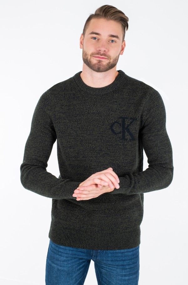 TWISTED YARN CK LOGO SWEATER