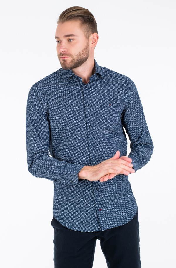 POPLIN BROKEN DIAMOND SHIRT