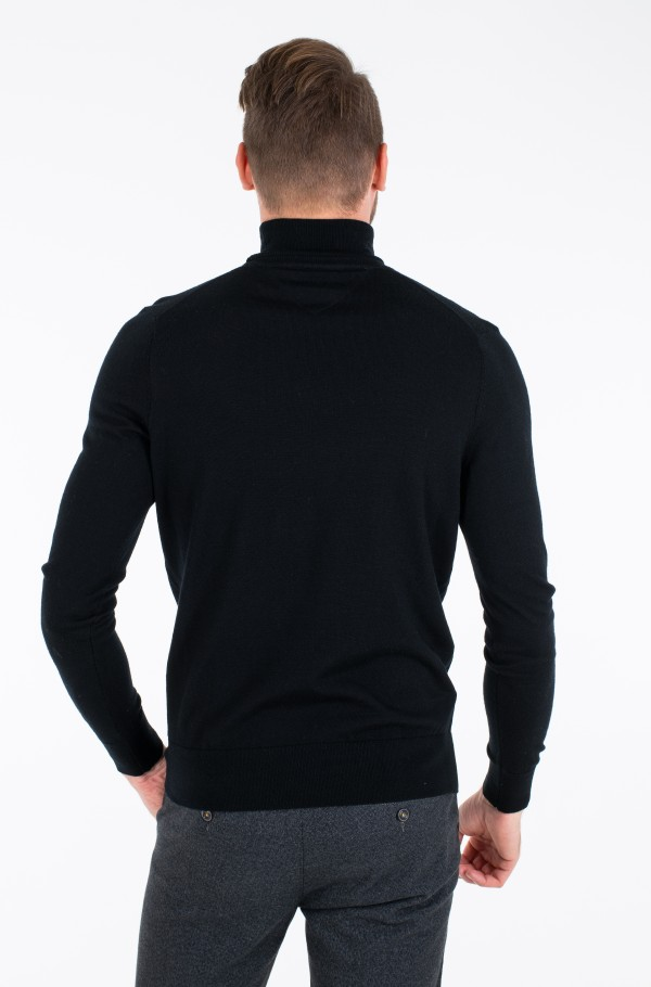 FINE GAUGE LUXURY WOOL ROLL NECK-hover