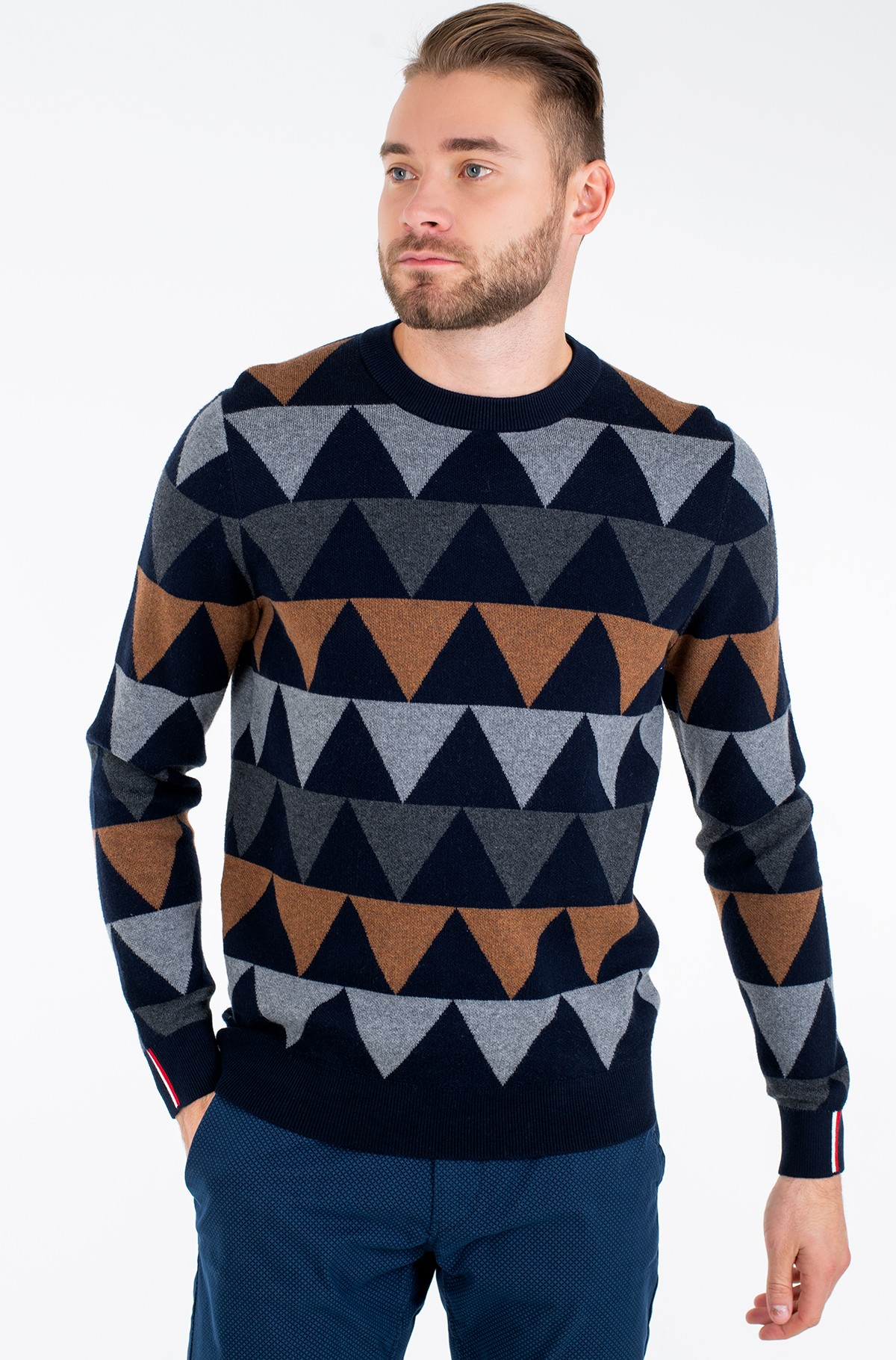 Džemperis MODERN ARGYLE CREW NECK-full-2