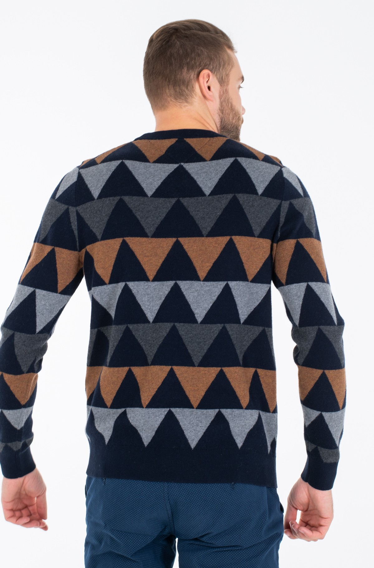 Džemperis MODERN ARGYLE CREW NECK-full-3