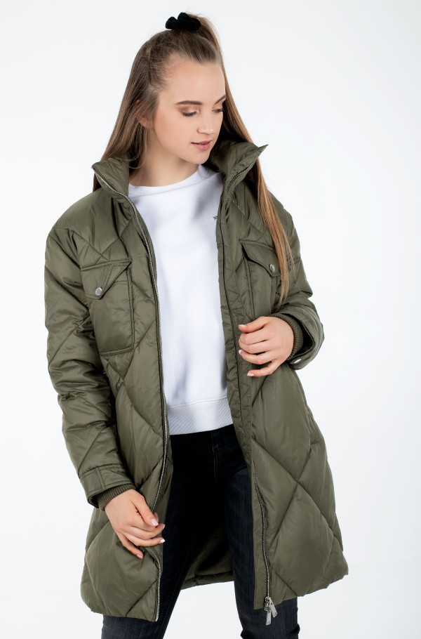 TJW DIAMOND QUILTED COAT-hover