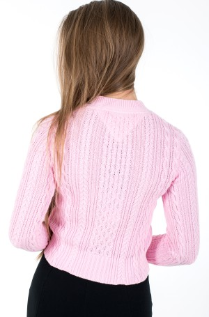 Kampsun TJW BRANDED NECK CABLE SWEATER-2